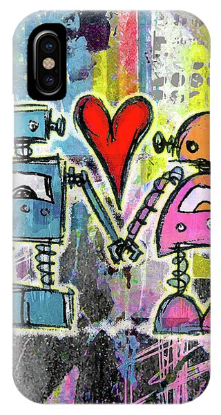 Graffiti Pop Robot Love IPhone Case