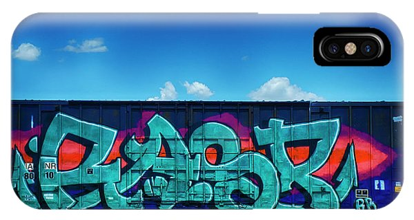 iPhone Case - Graffiti Riding The Rails 11 by Bob Christopher