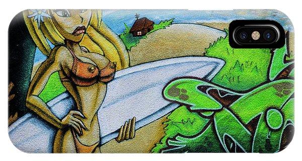 Graffiti-surfgirl IPhone Case