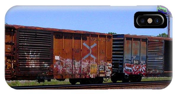 Graffiti Train With Billboard IPhone Case