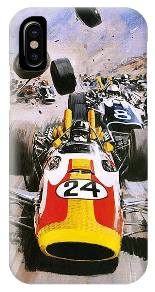 Accident iPhone Case - Graham Hill by Graham Coton