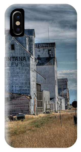 Grain Elevators, Wilsall IPhone Case