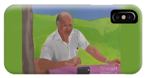 IPhone Case featuring the painting Grampa Wiegand by John Wiegand