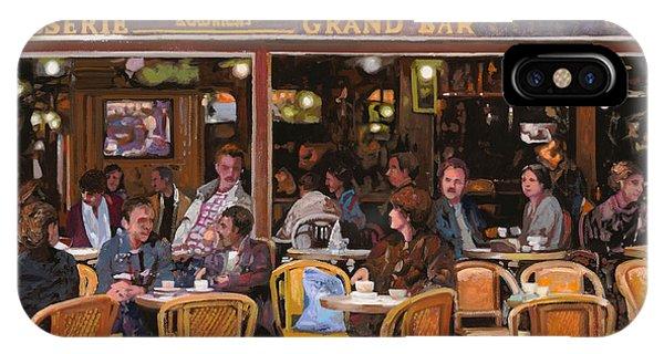 Paris iPhone Case - Grand Bar by Guido Borelli