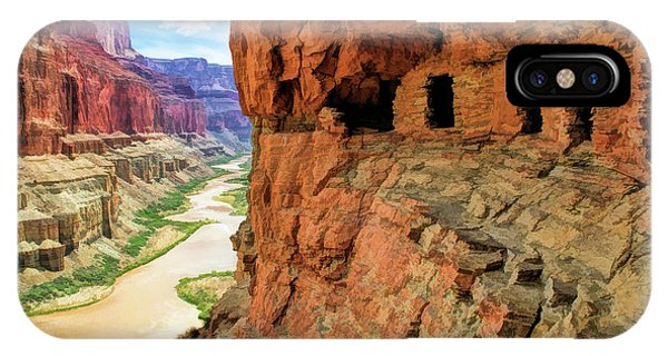 IPhone Case featuring the painting Grand Canyon Cliff Granaries by Christopher Arndt