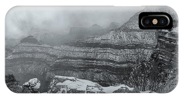 Grand Canyon In The Fog IPhone Case