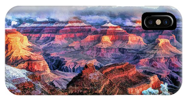 IPhone Case featuring the painting Grand Canyon Snow by Christopher Arndt