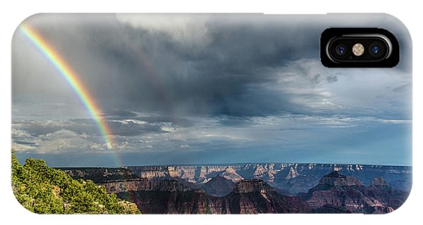 Grand Canyon Stormy Double Rainbow IPhone Case