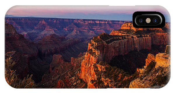 Grand Canyon iPhone Case - Grand Canyon Sunrise Panoramic by Scott McGuire