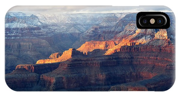 Grand Canyon With Snow IPhone Case