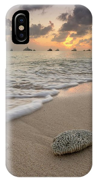 IPhone Case featuring the photograph Grand Cayman Beach Coral At Sunset by Adam Romanowicz