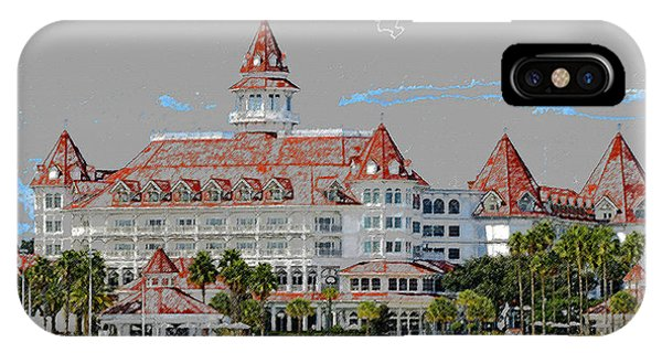 Grand Floridian In Summer IPhone Case