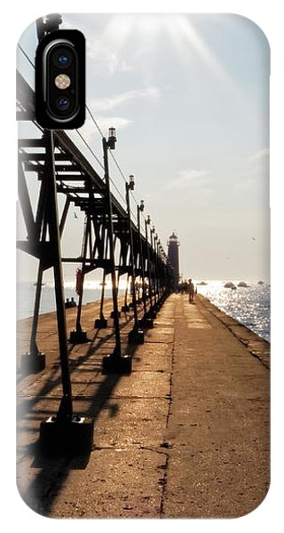 IPhone Case featuring the photograph Grand Haven Pier by Lars Lentz