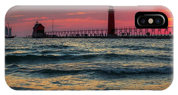 Grand Haven Pier Sail IPhone Case
