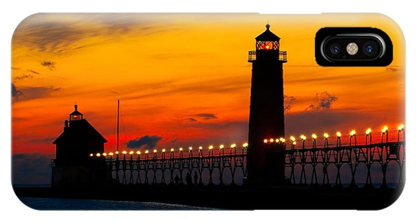 Grand Haven Sunset IPhone Case