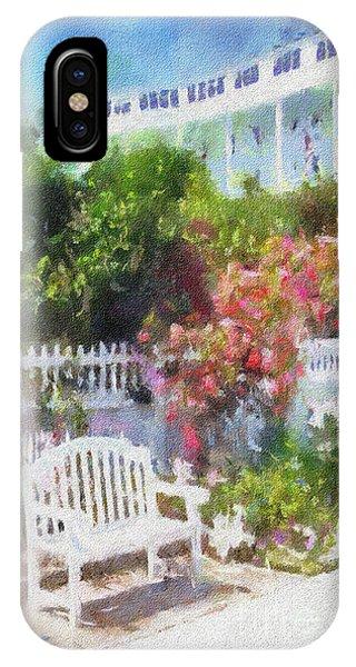 Grand Hotel Gardens Mackinac Island Michigan IPhone Case