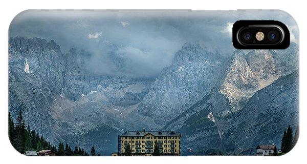 Grand Hotel Misurina IPhone Case