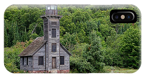 Grand Island East Channel Lighthouse #6680 IPhone Case