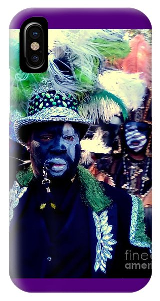 Grand Marshall Of The Zulu Parade Mardi Gras 2016 In New Orleans IPhone Case