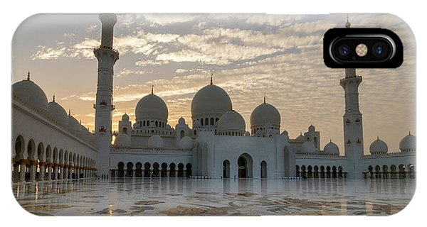 Grand Mosque Sunset IPhone Case