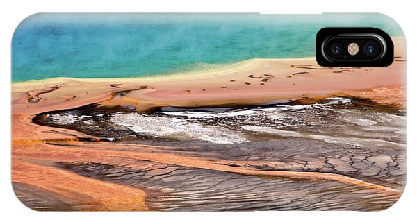 Yellowstone National Park iPhone Case - Grand Prismatic Spring by Delphimages Photo Creations