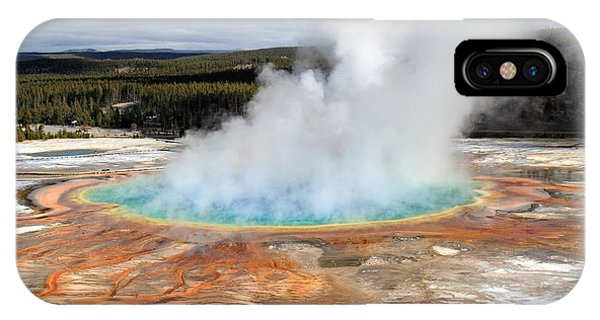 IPhone Case featuring the photograph Grand Prismatic Springs In Yellowstone National Park by Pierre Leclerc Photography