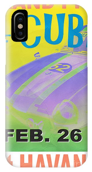 Cuba iPhone Case - Grand Prix Of Cuba Rally Poster by Edward Fielding