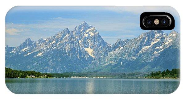 Grand Teton Over Jackson Lake IPhone Case