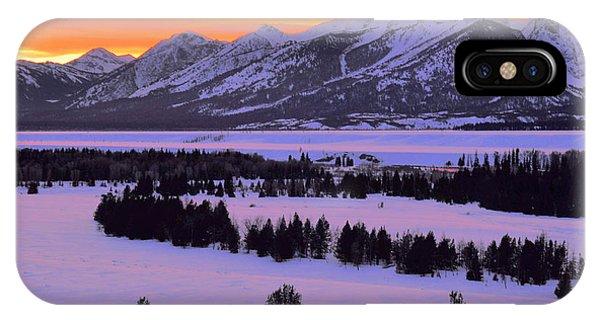Grand Teton Winter Sunset IPhone Case