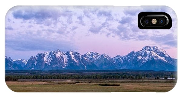 Teton iPhone Case - Grand Tetons Before Sunrise Panorama - Grand Teton National Park Wyoming by Brian Harig