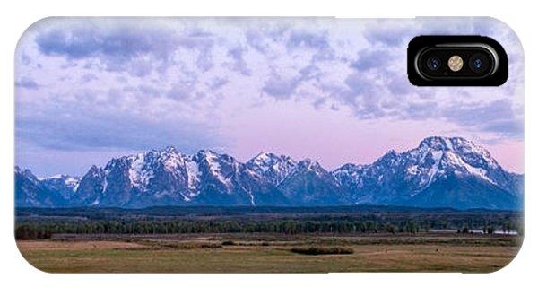 Teton iPhone Case - Grand Tetons Before Sunrise Panorama - Grand Teton National Park Wyoming by Brian Harig