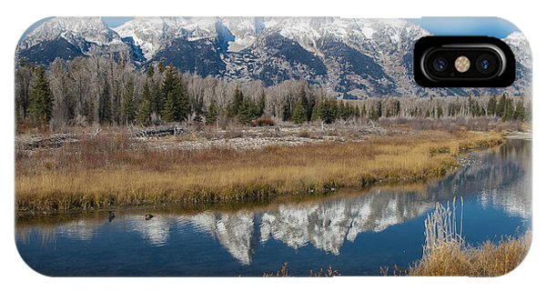 IPhone Case featuring the photograph Grand Tetons by Gary Lengyel