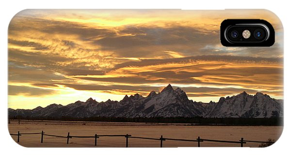 Grand Tetons In January Glory IPhone Case