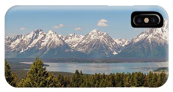 Teton iPhone Case - Grand Tetons Over Jackson Lake Panorama by Brian Harig