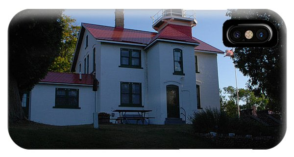 Grand Traverse Light House IPhone Case