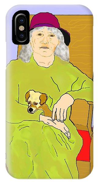 iPhone Case - Grandma And Puppy by Pharris Art