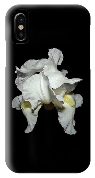 Grandma's White Iris IPhone Case