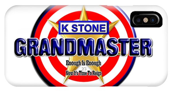 iPhone Case - Grandmaster Version 2 by K STONE UK Music Producer