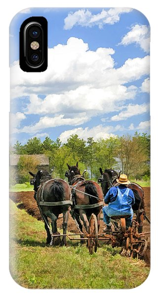 Plowing iPhone Case - Grandpa And His Team Of Horses At Old World Wisconsin by Christopher Arndt