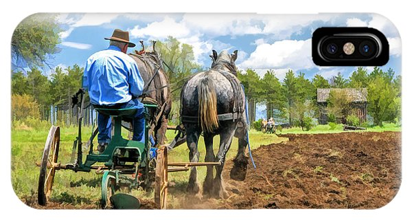 Plowing iPhone Case - Grandpa At The Plow At Old World Wisconsin by Christopher Arndt