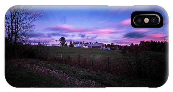 Grandview Farm Sunset IPhone Case