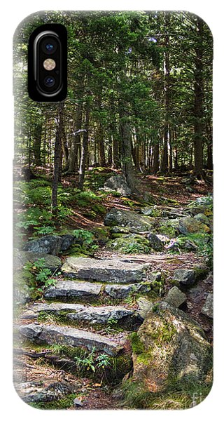 Granite Steps, Camden Hills State Park, Camden, Maine -43933 IPhone Case