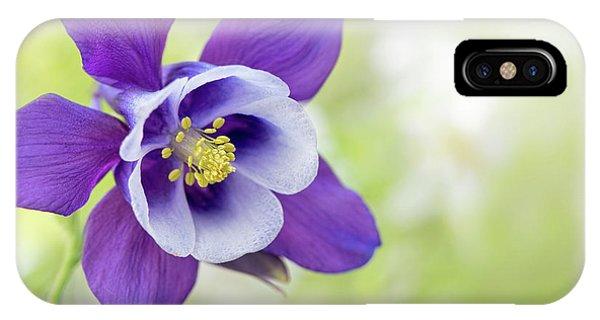 Close Focus Floral iPhone Case - Granny's Bonnet Flower by Jacky Parker