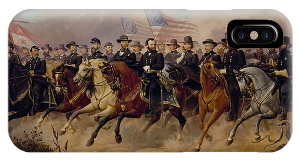 History iPhone Case - Grant And His Generals by War Is Hell Store
