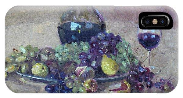 Grape iPhone X Case - Grape And Wine by Ylli Haruni