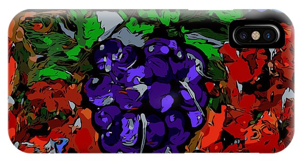 Grape Jazz Digital IPhone Case