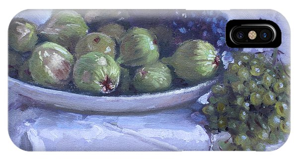 Grape iPhone X Case - Grapes And Figs At Lida's by Ylli Haruni
