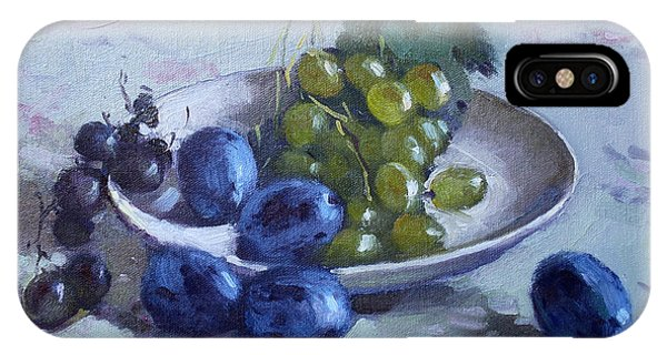 Grape iPhone X Case - Grapes And Plums by Ylli Haruni