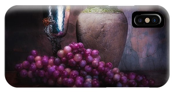 Grapes And Silver Goblet IPhone Case