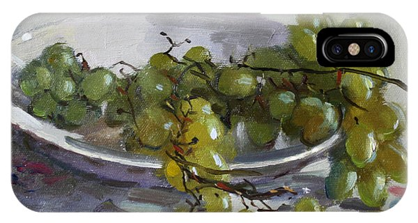 Grape iPhone X Case - Grapes From Lida's Garden by Ylli Haruni